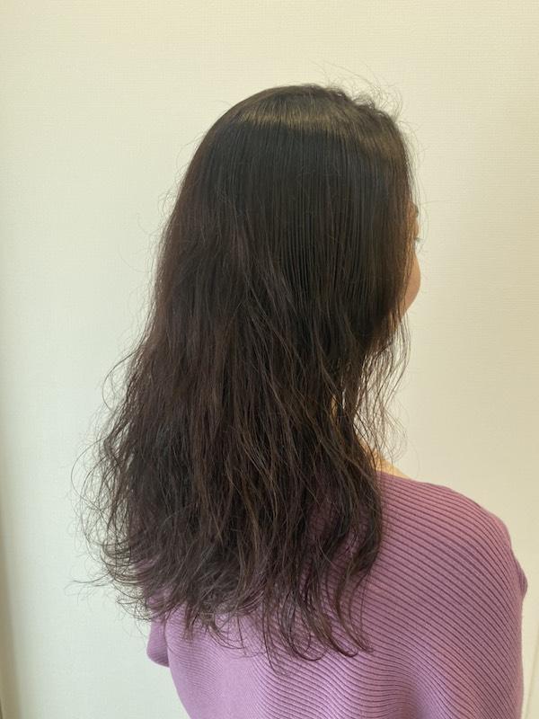 くせ毛のロングスタイル(横)